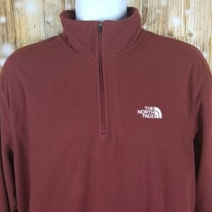 The North Face 1/4 zip mens L fleece long sleeve